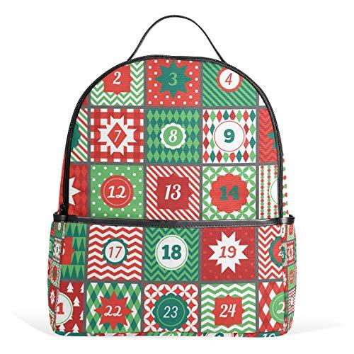 Mochila escolar de Adviento Calendario de Adviento de Navidad para estudiantes para niños adolescentes niñas niños