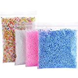 Foam Balls for Slime - Colorful Styrofoam Balls Beads Mini 0.1-0.18 inch (30000 pcs)- Decorative Ball Arts DIY Crafts Supplies For Homemade Slime, Kid's Craft, Wedding and Party Decoration (4 Pack)
