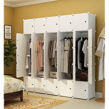 kousi portable clothes closet wardrobe bedroom armoire dresser cube storage. Black Bedroom Furniture Sets. Home Design Ideas