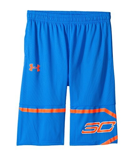 Under Armour Kids Boy's Steph Curry 30 Spear Shorts (Big Kids) Mako Blue/Magma Orange/Magma Orange X-Small