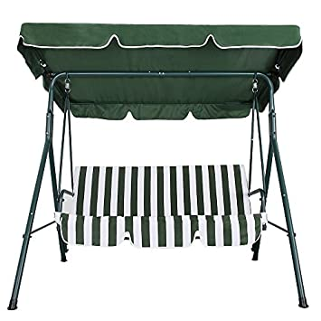 Palm Springs Garden 3 Seater Hammock Cushioned Swing Chair Outdoor Bench Seat