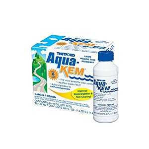 Aqua-Kem RV holding tank treatment - deodorant / waste digester / detergent 8 oz - Thetford 03106