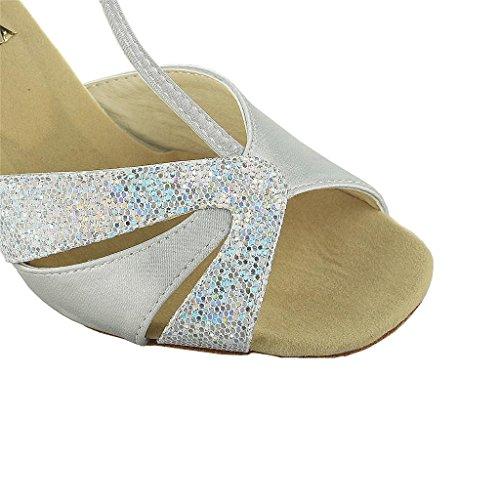 » Paillettes Satin « Femmes Jia Scintillantes Super Latin De Argent Sandales De Jia Évasé 20518 Avec Des Talon Danse Chaussures 2 8 qpvBAw