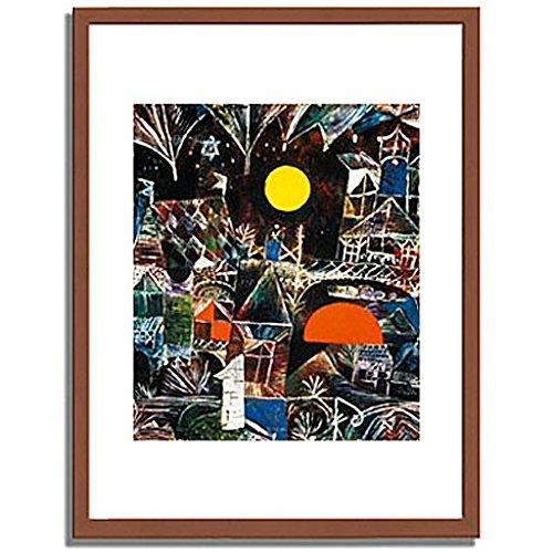 パウルクレー 「Moonrise Sunset. 1919 」 インテリア アート 絵画 壁掛け アートポスターフレーム:木製(茶) サイズ:S(221mm X 272mm) B00MSW9W20 1.S (221mm X 272mm)|1.フレーム:木製(茶) 1.フレーム:木製(茶) 1.S (221mm X 272mm)