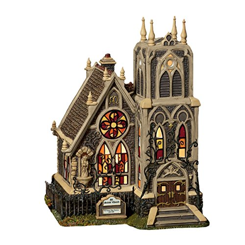 "Dept 56 Dickens Village All Hallows' Eve ""All Saints Church"" Porcelain Holiday Building"