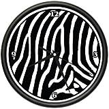 Zebra Wall Clock Animal Print Home Bedroom Decor Gift