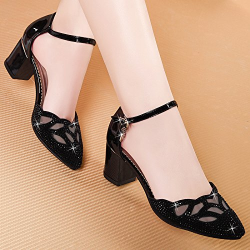 Casuales Grueso Mujer eight Siete Khskx Otoño Damas Y De Zapatos Baotoublacktreinta Tacon zapatos Thirty tYY0qfU