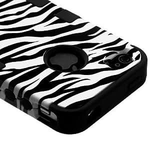SUPWISER-5SDZH09 Flower Design Hybrid Defender Case For Iphone 5/5S Hot Pink