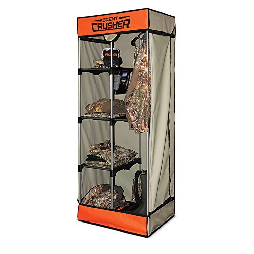 Scent Crusher Flexible Portable Hunter Travel Closet with Ozone Generator for Scent Removal