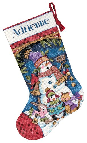Dimensions Needlecrafts Counted Cross Stitch, Cute Carolers Stocking -  8751