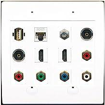 RiteAV USB-A CAT5E COAX 2 TOSLINK 2 HDMI 5RCA RGB Component Stereo Wall Plate