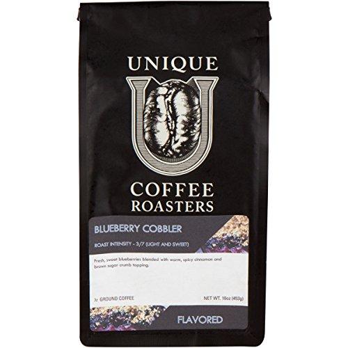 Blueberry Cobbler Flavored Ground Coffee, 1 LB (16 oz) bag, Medium Roast, 100% Arabica Premium Quality Flavor
