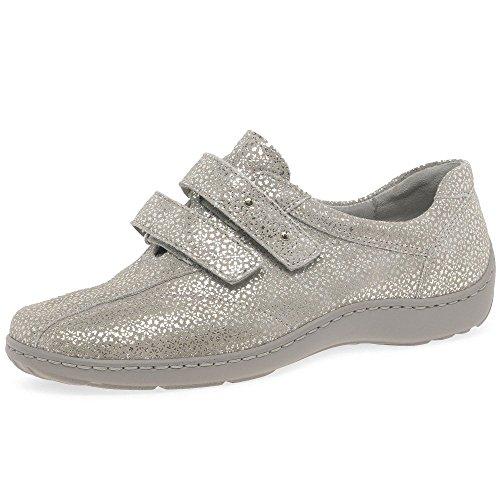 Waldlaufer Platin Zapatos Fijación Velcro Eu 37 Tago De Mujer Piedra 66CxAUwq