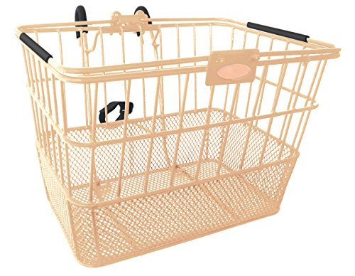 Treasure Gifts Mesh Bottom Lift-Off Basket w/Bracket, Mocha