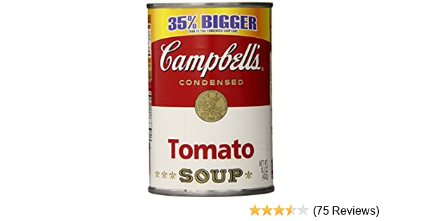 Amazon.com : Campbells Tomato Soup, 14.5 Ounce Cans (Pack of 12 ...