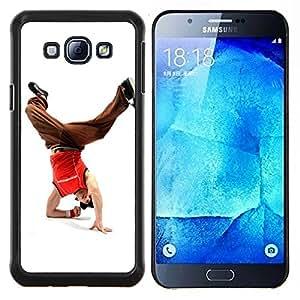YiPhone /// Prima de resorte delgada de la cubierta del caso de Shell Armor - Diseño bailarín de la rotura del hombre - Samsung Galaxy A8 A8000