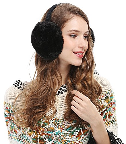 Price comparison product image Womens Headband Winter Faux Fur Outdoor EarMuffs Warmers Adjustable Earwarmer