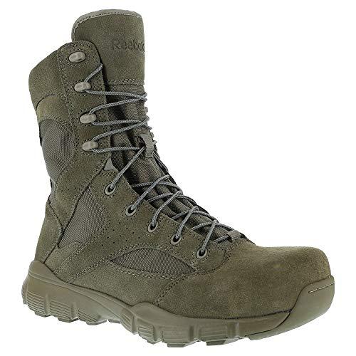 """Reebok Men's 8"""" Dauntless Composite Toe Combat Boot Sage Green 10.5 M"""