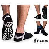 Muezna Men's Non-Slip Yoga Socks, Anti-Skid...