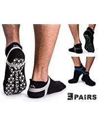 Mens Non Slip Yoga Socks, Anti-Skid Pilates, Barre, Bikram Fitness Hospital