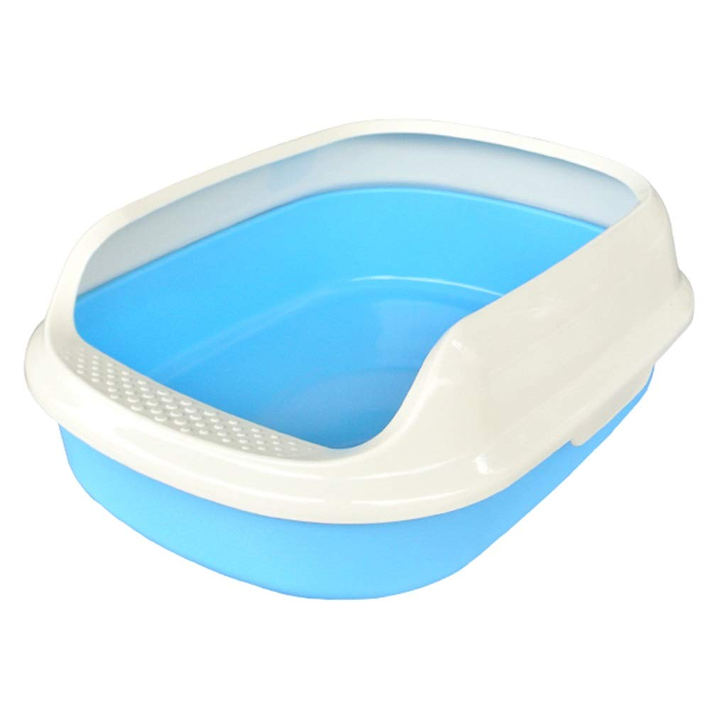 D S 15.3×11.4×5.1in D S 15.3×11.4×5.1in Indoor Cat Toilet, Semi-Closed Hygienic Filter Big Cat Litter Box Detachable Easy Clean Pet Pan Training Loo Supplies (color   D, Size   S 15.3×11.4×5.1in)