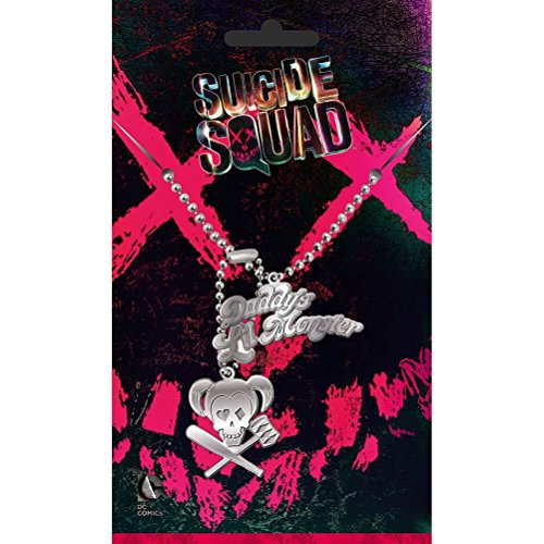 - Officially Licensed Suicide Squad Harley Quinn Dog Tag Pendant Necklace