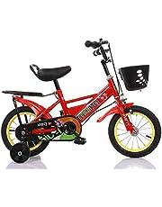 دراجة أطفال مع عجلات للتدريب، مجموعة خلفية وسلة أمامية 40.64 سم، لون أحمر من مايبي كيو