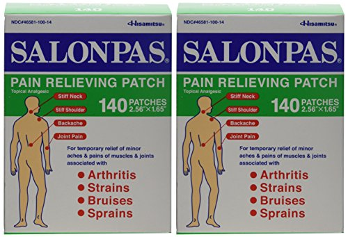 Salonpas Pain Relieving Patch - 140 Count (Two Packages each of 140 Patches) ()