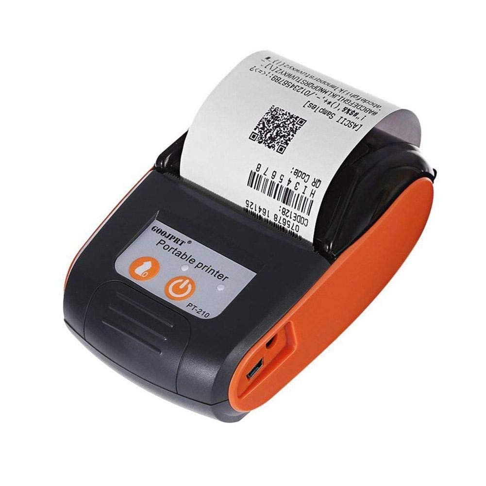Wurink Thermal Printer, 58mm Mini Thermal Printer Portable Wireless Bluetooth USB Reception Printer Supports Android, iOS and Windows Compatible with ESC/POS