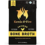 Huhn Bone Broth by Kettle & Fire - Organic, Collagen-rich Chicken Bone Broth, 16.2 Ounce, 4-Pack