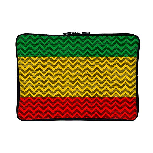 DKISEE Abstract Rasta Patterns Neoprene Laptop Sleeve Case Waterproof Sleeve Case Cover Bag for MacBook/Notebook/Ultrabook/Chromebooks ()