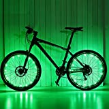 VORCOOL LED Bike Wheel Lights, Super Cool Lights Brilliant Bicycle Wheel Light String,USB Rechargeable Battery (1 Tire Pack)