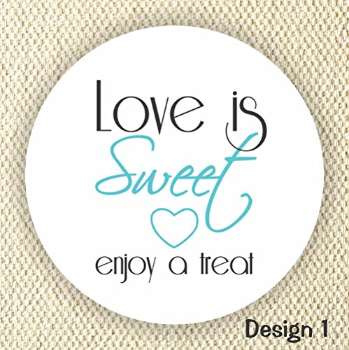 Love is Sweet Enjoy a Treat - Thank You Stickers - Wedding Stickers - Anniversary Stickers - Favor Stickers - Love is Sweet -