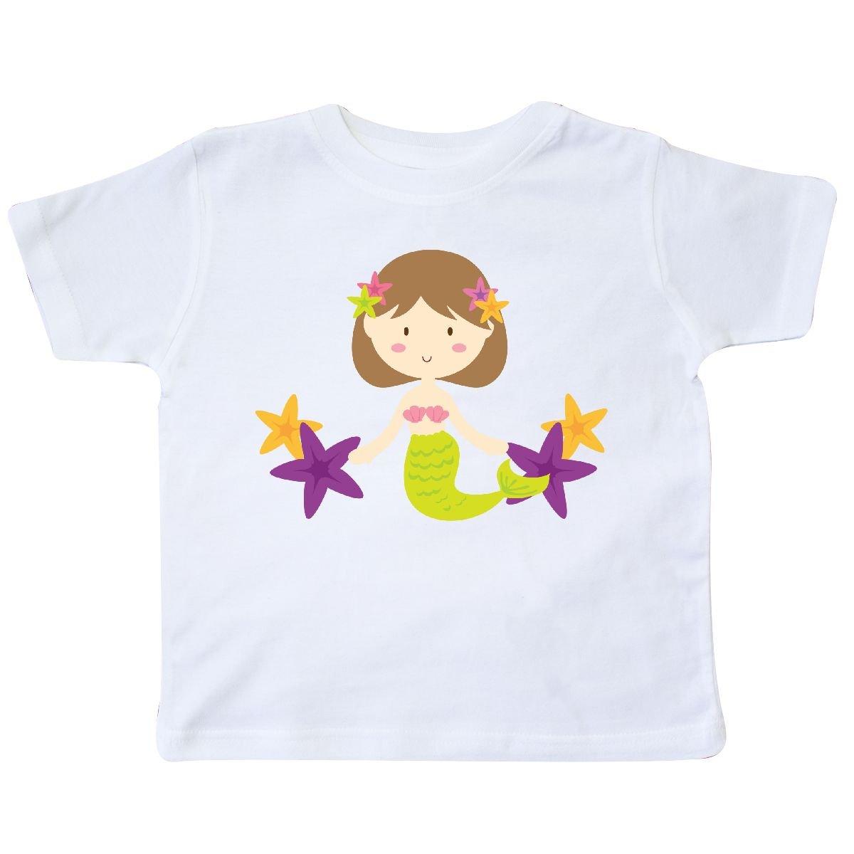 inktastic Mermaid Girl Brown Hair Toddler T-Shirt
