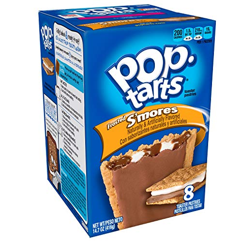 Pop-Tarts Breakfast Toaster Pastries, Frosted S'mores Flavored, Bulk Size, 96 Count (Pack of 12, 14.7 oz Boxes)