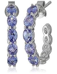"""Sterling Silver Half Hoop Earrings, 0.75"""""""