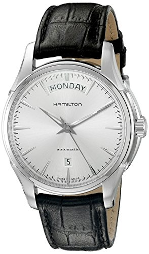 Hamilton Men's H32505751 Jazzmaster Analog Display Swiss Automatic Black Watch