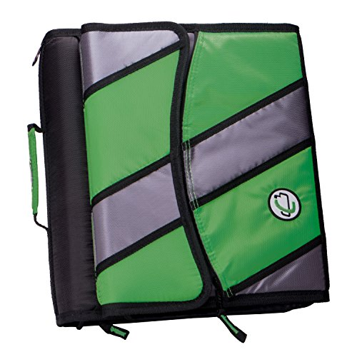 Removable 2 Ring Binder 3 (Case-it Sidekick 2-inch O-Ring Zipper Binder with Removable Tab File, Kelly Green, D-901-KGRE)