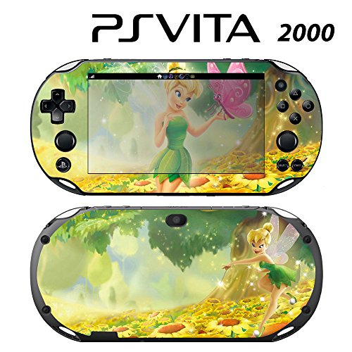 Decorative Video Game Skin Decal Cover Sticker for Sony PlayStation PS Vita Slim (PCH-2000) - Tinkerbell Fairy Pixie Princess Butterfly -  Decals Plus