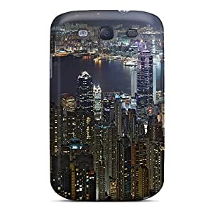Top Quality Rugged Hong Kong Skyline Case Cover For Galaxy S3