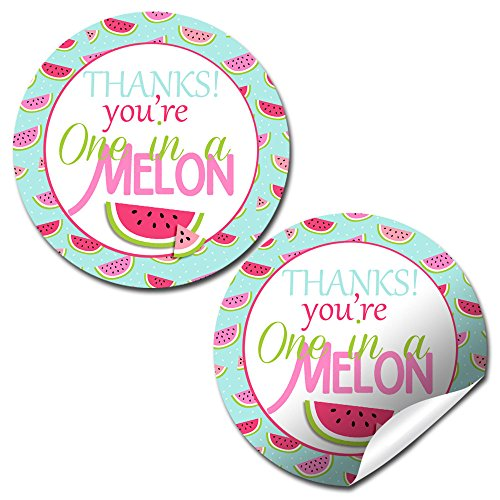 One In A Melon Thank You Sticker Labels, 40 2