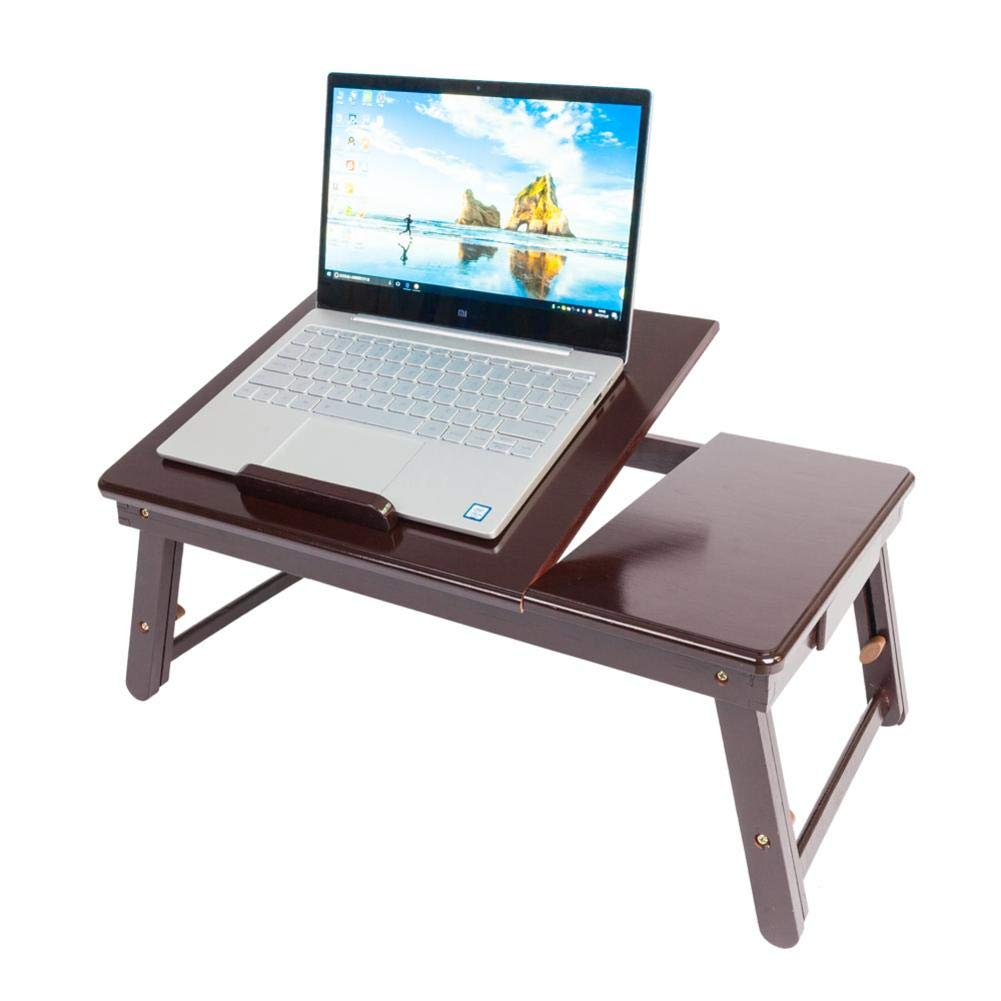 Amazon.com: Ksruee Adjustable Bamboo Lap Desk Retro Plain ...