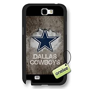 Personalize NFL Dallas Cowboys Team Logo Frosted Black For SamSung Note 3 Case Cover - Black