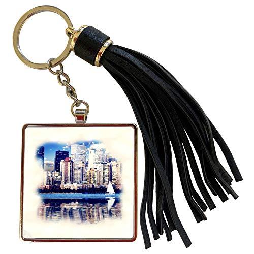 3dRose RinaPiro - New York City - New York City skyline - Tassel Key Chain (tkc_212716_1)