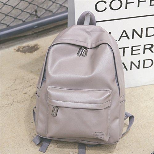 KPHY-Escuela De Bolsa De Aire Corteza De La Hembra Los Estudiantes Coreanos Harajuku Backpack Retro Korean MalePink gray