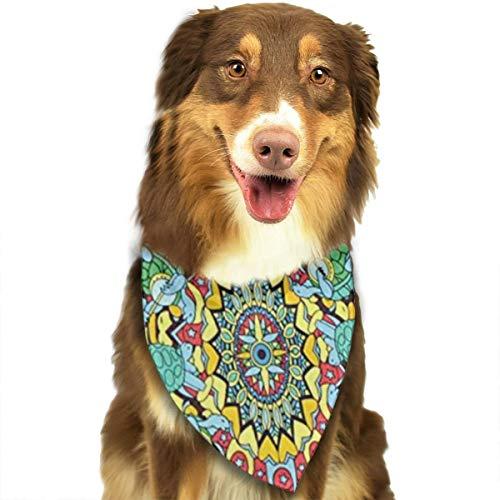 KZEMATLI Dog Bandana Scarf Joy Grateful Dead Terrapin Triangle Bibs Printing Kerchief Set Accessories Dogs Cats Pets ()