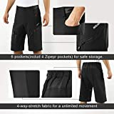 ARSUXEO Men's Loose Fit Cycling Shorts MTB Bike