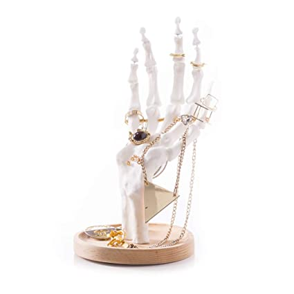 2d7fa60aa Amazon.com: Suck UK Skeleton Jewelry Organizer | Halloween Decorations |  Unique Gifts | Earrings Necklace Bracelet & Ring Display Stand |, White:  Home & ...