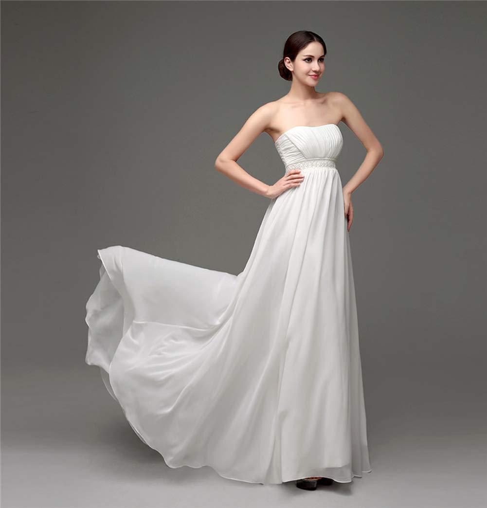女性の結婚式のレースのストラップレスのエレガントな気質の王女のウェディングドレス大人のドレスのイブニングドレス,US6 B07PVFM6LZ US16  US16