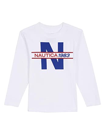 Amazon.com  Nautica Boys  Long Sleeve Graphic T-Shirt  Clothing 1873706f002